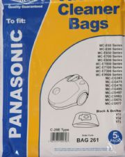 Dust Bags for Panasonic Cylinder Vacuum Cleaner C20E MCE60 MCE650